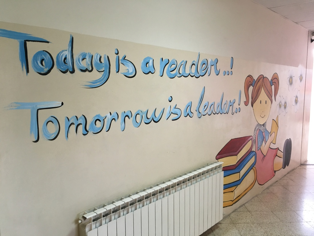 Brand-new mural in Bethlehem's Dar al-Kalima school